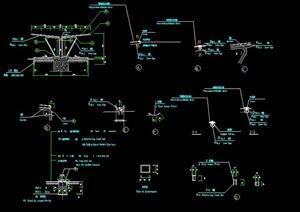 某双排自行车棚设计CAD施工图