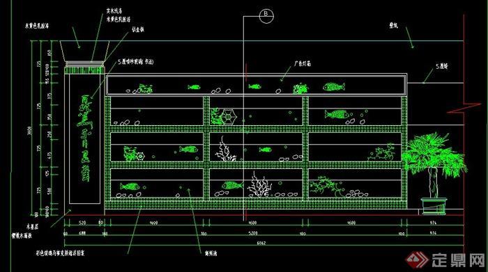 某酒楼海鲜池设计CAD施工详图(1)