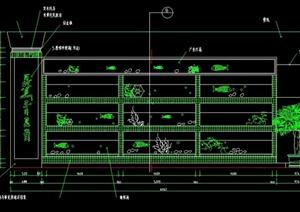 某酒楼海鲜池设计CAD施工详图
