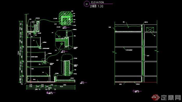 某酒楼海鲜池设计CAD施工详图(2)