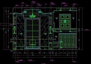 某豪华别墅客厅装修设计CAD施工详图