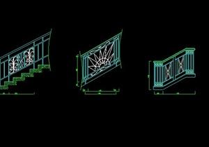 多款旋转楼梯设计CAD施工大样详图