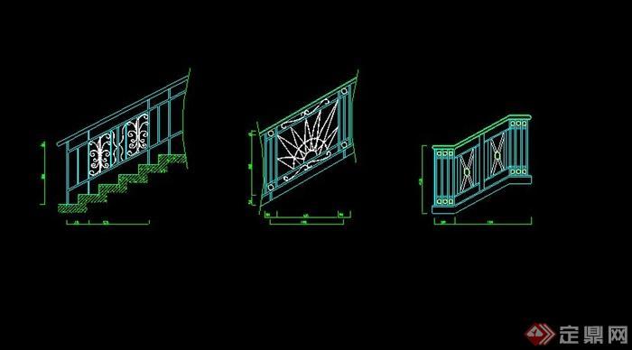 多款旋转楼梯设计CAD施工大样详图(1)
