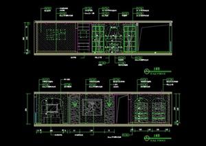 地中海风格某客厅装修设计CAD施工图