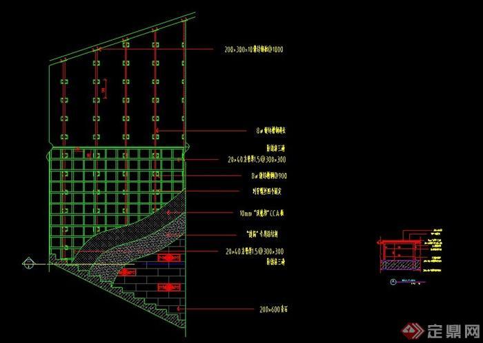 多款室内吊顶钢架结构节点设计cad施工图