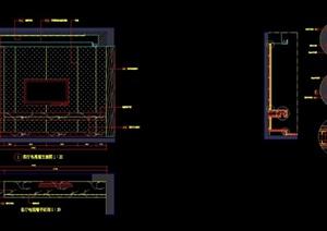 客厅电视墙设计施工图