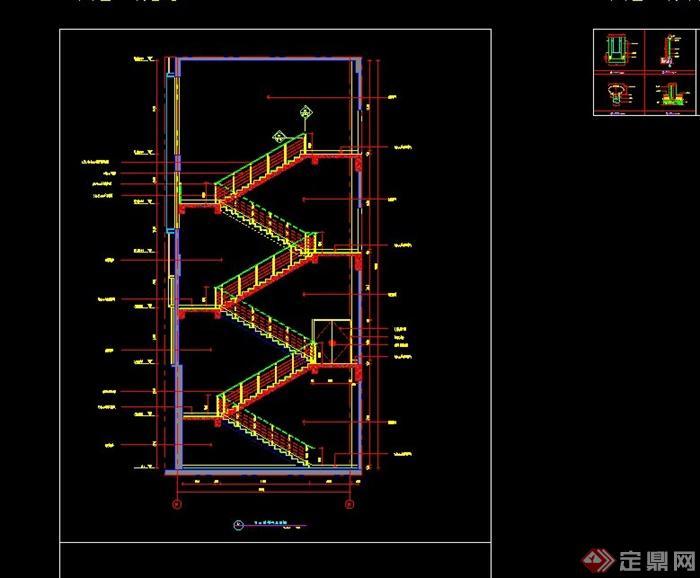 某建筑楼梯不锈钢栏杆设计CAD施工图