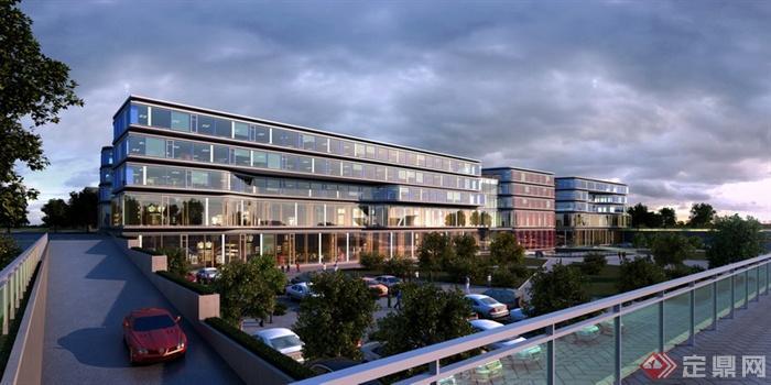某五层商业建筑设计效果图高清图片