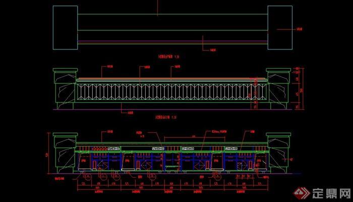 某大堂酒店服务台v大堂CAD施工图cad高达画教程图片