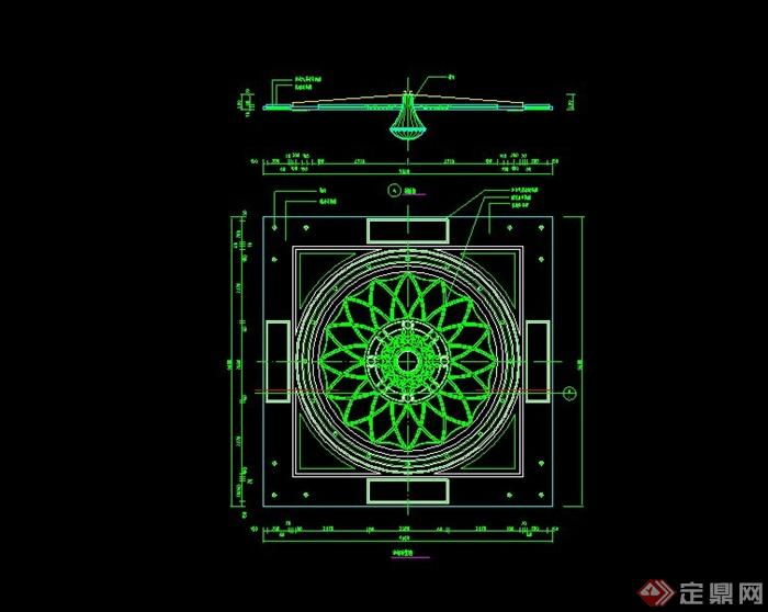 某室内欧式风格顶棚设计CAD施工图