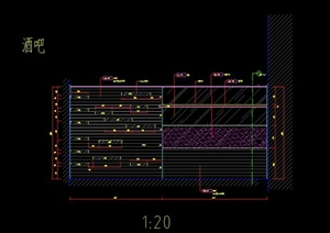 酒店与酒吧服务台设计CAD施工图