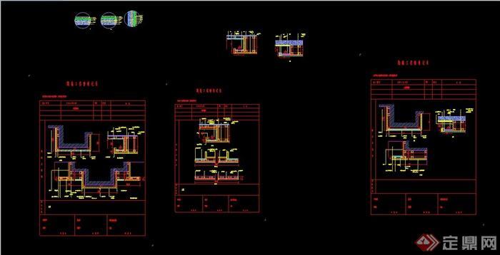 某室内墙面木饰面基层设计cad施工图