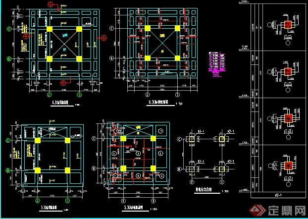 某公园了望塔全套设计施工图(2)