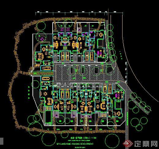 别墅住宅区建筑设计平面图纸图片
