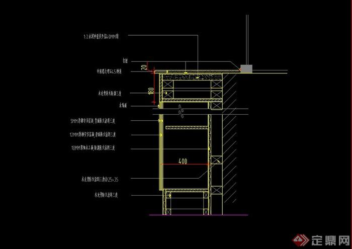 窗台板和暖气罩设计cad施工图