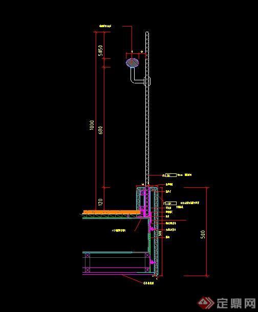 与大理石制作的楼梯栏杆设计CAD施工图