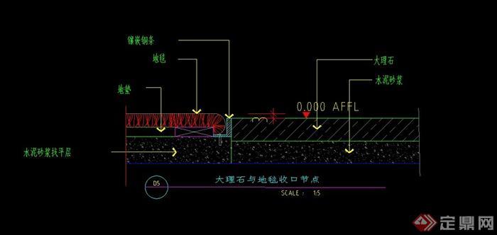 某室内地面设计CAD施工图(1)