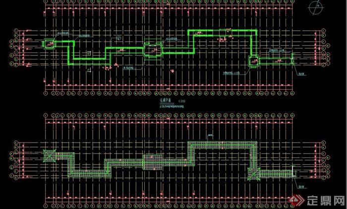 某古典中式长廊建筑设计CAD施工图(4)