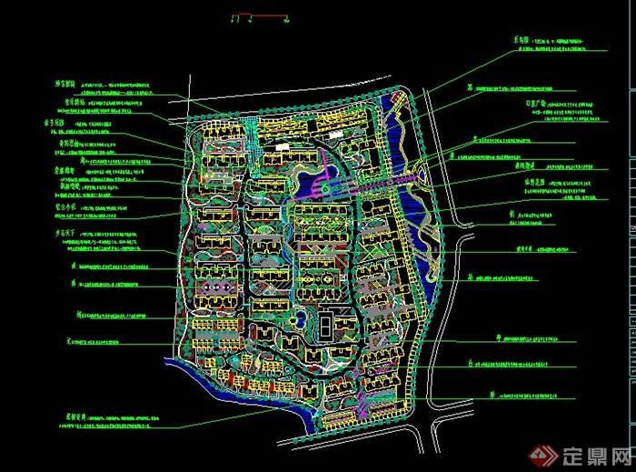 某嘉兴住宅小区绿化规划总图设计CAD图
