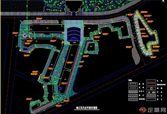 某中式风格商业街景观规划施工图(含效果图)