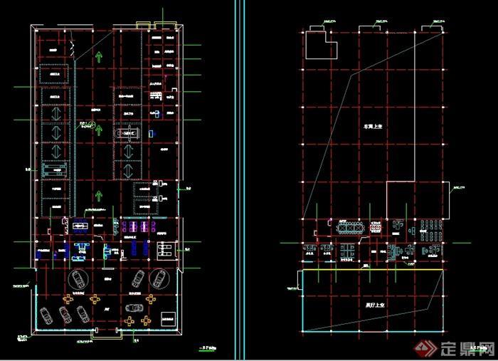 某汽车4s店建筑以及暖卫设计图