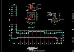 钢结构某医院连廊设计CAD施工图