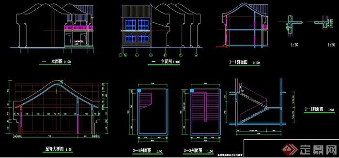 某中式古建戏楼建筑设计施工图纸
