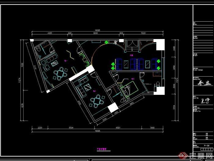 某茶楼 多功能厅装饰设计CAD施工图 带效果图图片