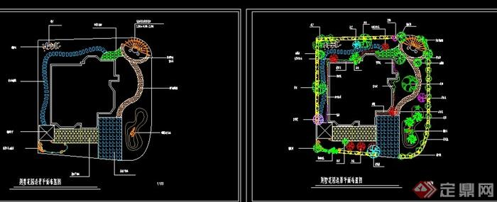 某别墅花园布置别墅造景v别墅CAD图布置室内加州平面美国的乡间图片