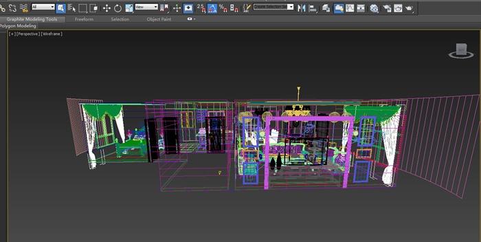 欧式风格三层住宅别墅室内装饰设计方案(含效果图、施工图、3d模型)(4)