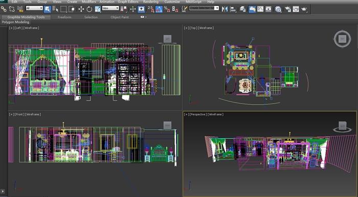 欧式风格三层住宅别墅室内装饰设计方案(含效果图、施工图、3d模型)(5)