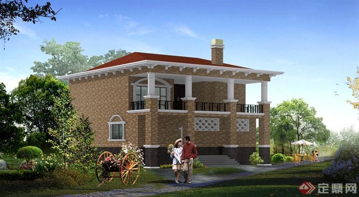 农村小别墅住宅建筑设计方案 含效果图