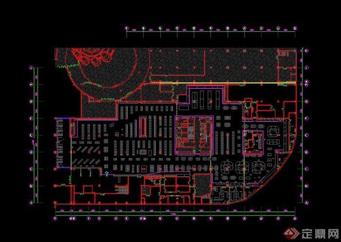 某超市室内装修设计CAD图百家姓李字体det365在线投注_皇冠det365足球网_det365是什么片图片