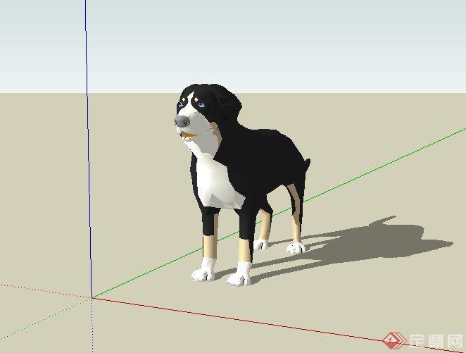 某配景素材动物狗设计su模型(1)