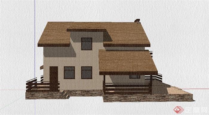 民房带院建筑设计图展示