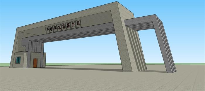 某工厂大门设计SU模型