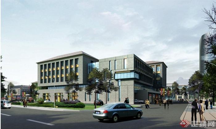 某办公商业产业园区建筑规划设计(含jpg效果图,cad平面)[原创]图片