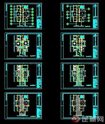 面、地面布置、天花吊顶、立面图、片区放大平面、节点图、剖面图,
