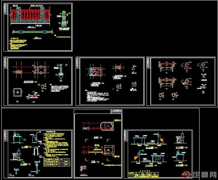 某工厂大门设计结构施工图