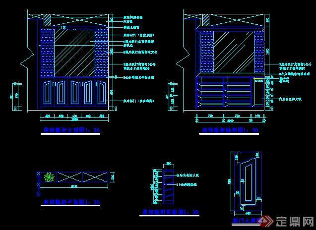 30款室内鞋柜、玄关柜CAD图纸(2)