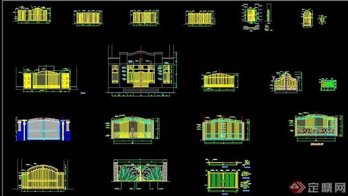 18款大门设计立面图