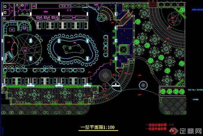 层餐厅室内设计平面配置图