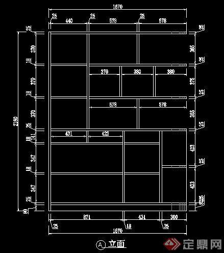 四套室内书柜书架CAD图纸