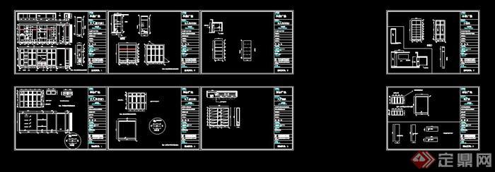 10套衣柜设计CAD立面图(2)