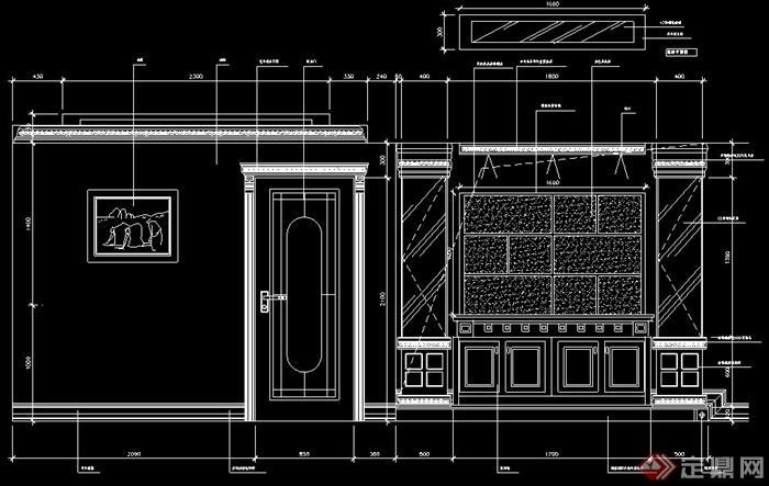 某欧式三房两厅室内设计图纸(含效果图)