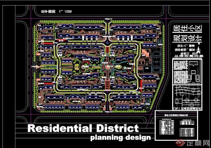 居住小区规划设计总平图