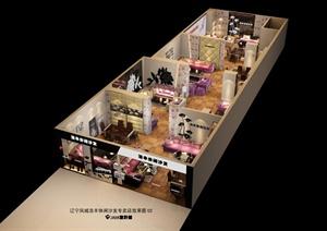 某沙发专卖店室内装饰设计(含效果图)