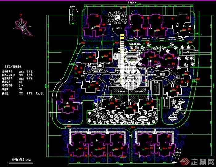 小区规划设计总平面布置图图片