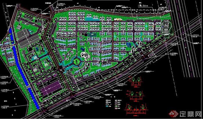小区景观详细规划设计cad图