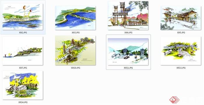 木兰山旅游区规划设计手绘图